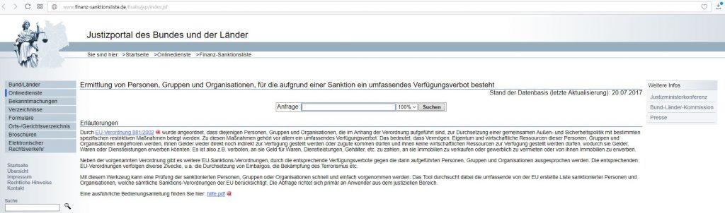 Justizportal_Finanz-Sanktionsliste